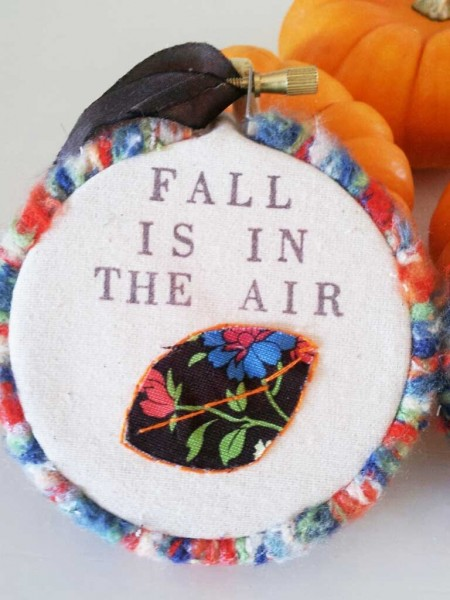 easy fall embroidery hoop art craft DIY 4