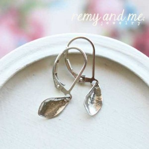 small silver drop earrings leverback lever back remy and me jewelry