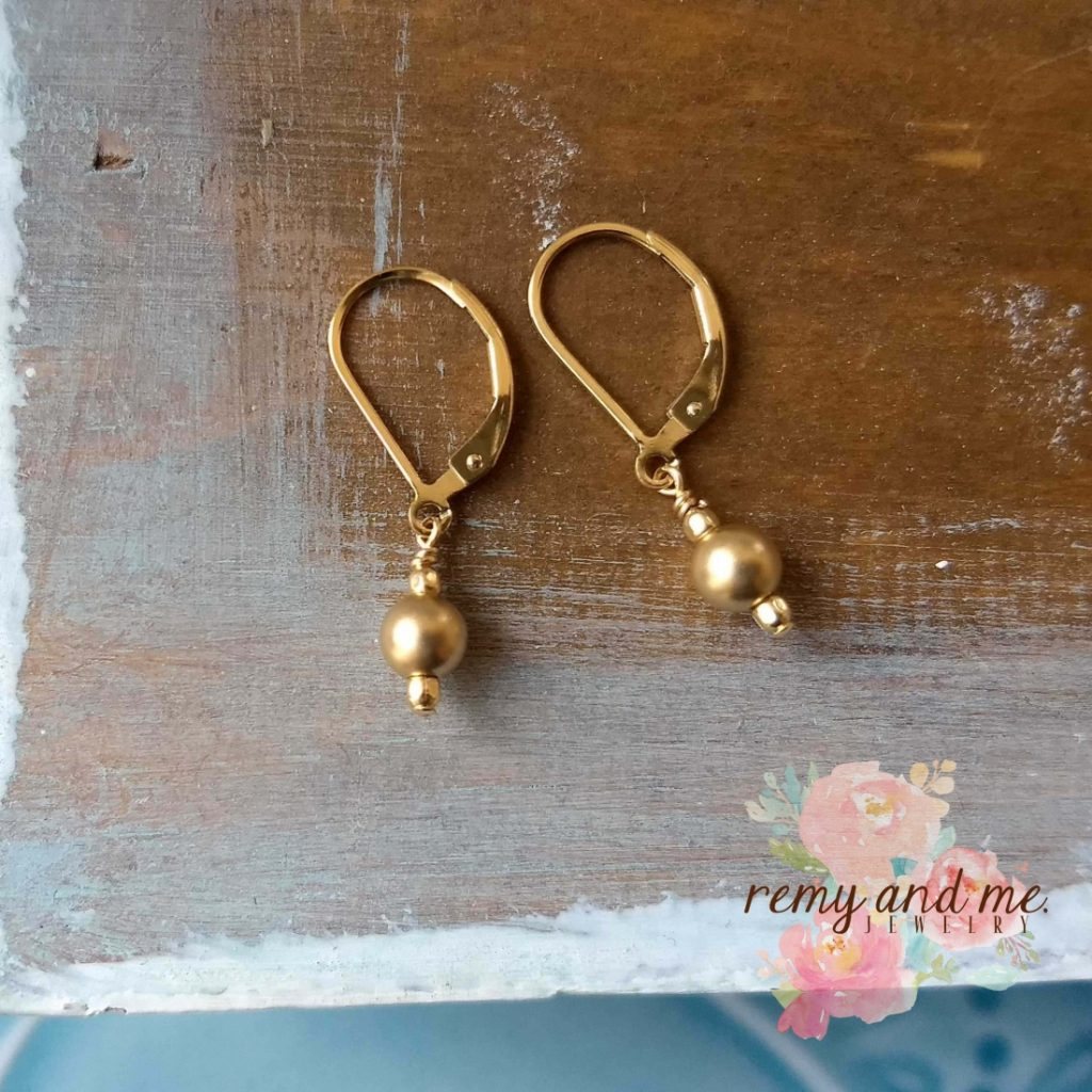 A New Style of Gold Leverback Earrings Added to My Shop! ‹ Remy ...